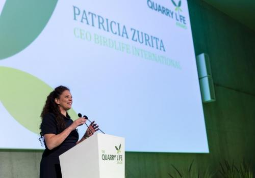 Patricia Zurita, CEO Birdlife International (Photo F. Van Grootel)